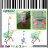 Supermarket Metal Kids Children Shopping Trolley Cart with Flag