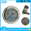100mm Stainlress Steel Case Brass Internals Pressure Gauge with Flange