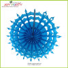 Sky Blue Snowflake Hanging Paper Fans