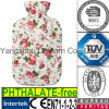 CE Retro Vintage Flowers Fabric Hot Water Bottle Cover