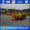 Flatbed and Skeleton Type Container Semi Trailer for Sale