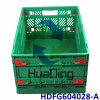 "600*400*280mm 24""X16""X11"" Foldable Plastic Distribution Container with Hinged Lid"