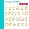 Factory Custom Zinc Alloy Gold Filled Alphabet Letter Pendant