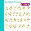 Factory Custom Zinc Alloy Gold Filled Alphabet Letter Pendant