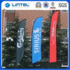 Steel Ground Base Outdoor Feather Flying Flag Banner (LT-17F)
