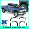 Injection Mould Bushwacker Fender Flares for Chevrolet Silverado 03-06