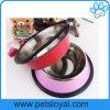 Manufacturer Pet Supply Non Slip Base Stainless Steel Dog Bowl