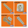Extension Cord Socket 2 Pin+Earth, Schuko Standard (E5000)