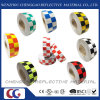 Hot Selling Multi Color Checkered Warning Reflective Safety Tape (C3500-G)