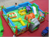Interactive Inflatable Spongebob Obstacle with Slide (CHOB121)
