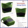 Multifunctional Velvet PU Leather Basket (1053R2)