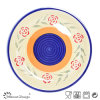 Facny Design 10.5inch Big Dinner Plate with Hand Painting