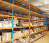 Customized Long Span Shelving in Warehouse