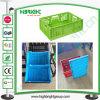 Leak Resistant Lids Attached Logistic Plastic Storage Crates