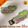 16GB/32GB OEM Customized Logo Metal USB Flash Drive (YT-OEM letter USB)
