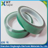 0.06 Thick Polyester Silicone Adhesive Tape Pet Green Tape