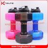 2.2L dumbbell shape shaker bottle gym fitness sport water bottle