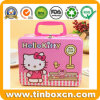 Hello Kitty Lunch Metal Box with Handle for Gift Tin Packaging