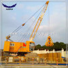 Mobile Electric Hydraulic Wharf Crane with Grab Bucket on Sale
