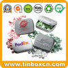 Custom Metal Embossed Mint Tin for Candy Gum Storage Box