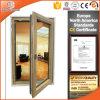Bronze Color Aluminum Casement Window with Double Glazing Glass, Excellent Quality Aluminum French