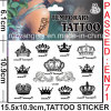 Non-Toxic Temporary Body Tattoo Sticker with Crown Design (CG007)