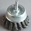 Shaft Cup Brushes with High Quality (twisted knot wire)