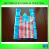 HDPE Handle Bags with Colorful Stripe