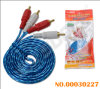 2 RCA to 2 RCA AV Cable with Golden Plug (AV-204G-1.8M-gold- blue-red packing)