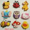 Pbxt-0215 New Design Fashion Jewelry Cute Animal Infant Teaching Aids PVC Fridge Magnet