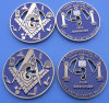 Masonic Metal Challenge Coin (ASNY-LUC901)