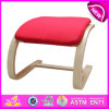 Top Quality Classic Upholstered Dining Chair for Kids, Elegant Wooden Toy Upholstered Dining Chairs, Wooden Relax Chair W08f026