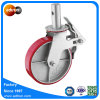 Non-Marking PU Mold on Steel Scaffolding Wheel Casters