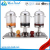 Hotel Restaurant Commercial Portable Manual Triple Heads Plastic Beverage Juice Dispenser Machine