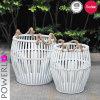S/2 Antique Iron Clothes Storage Baskets