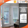 Aluminum Clad Wood Casement Window Built-in Blinds Integral Shutter Inward Opening Double Tempered Glass Window