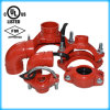 Ductile Iron Grooved Mechanical Tee with FM/UL Approved