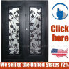 Cheap Price Metal Steel Security Wrought Iron Door