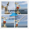 Knuckle Telescopic Boom Jib Crane on Ship Deck