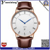 Yxl-019 2016 Fashion Leather Bezel Band Quartz Dw Wrist Man Watch with Single Date