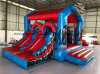 Inflatable Avenger Bouncer with 2 Slides for Hot Sale