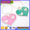 Silver Heart Pendant Necklace with Snake Chain Wholesale