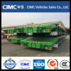 Cimc 3 Axle Low Bed Truck Trailer Hydraulic Ramp 70 Ton