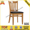 Simple Restaurant Leather Seat Wood Chairs