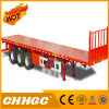 3 Axle Flatbed Semi Trailer with Front Wall