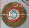 "5"" Brass Coated Steel Wire Wheel Brush (YY-234)"