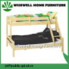 Solid Pine Wood Triple Bunk Bed (WJZ-B12)