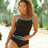 Two Pieces Tankini Sets Moulded Cup Top Insert Swimsuit Swimwear Black Brown EU 32 34 36 38 40 42 44 46 48