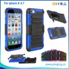 PC+Silicone Kickstand Belt Clip Phone Cover for iPhone 5 6 6plus