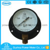 100mm Black Steel Case with Back Flange Pressure Gauge